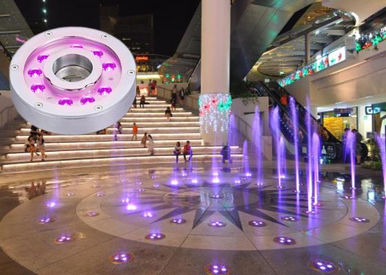 luces llevadas subacuáticas de la fuente